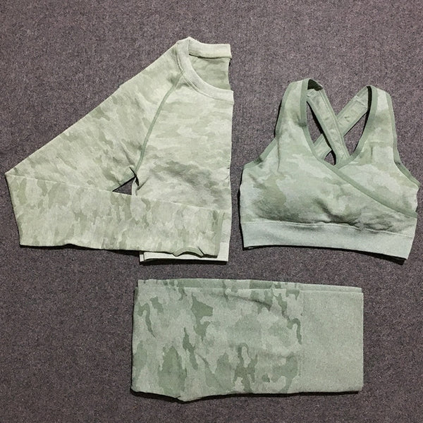 3-Piece Camo Seamless Set - Yoga Blush