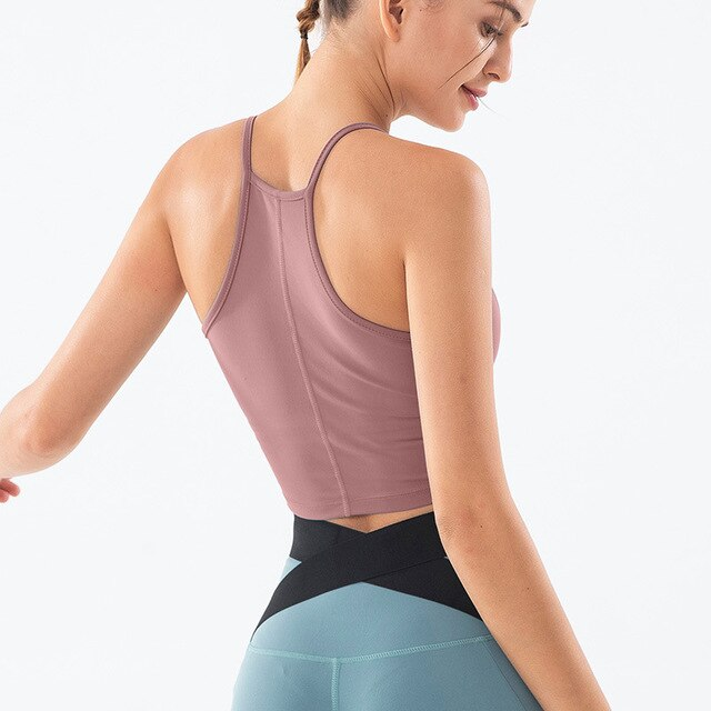 Front Hole-Out Sports Bra - Yoga Blush