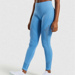 High Waist Tummy Control Yoga Fitness Leggings - Yoga Blush
