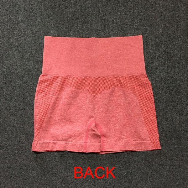 High Waist Colorful Yoga Workout Shorts - Yoga Blush