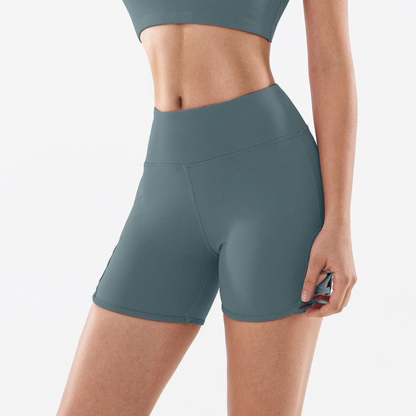 High Waist Hip Up Yoga Sports Shorts - Yoga Blush