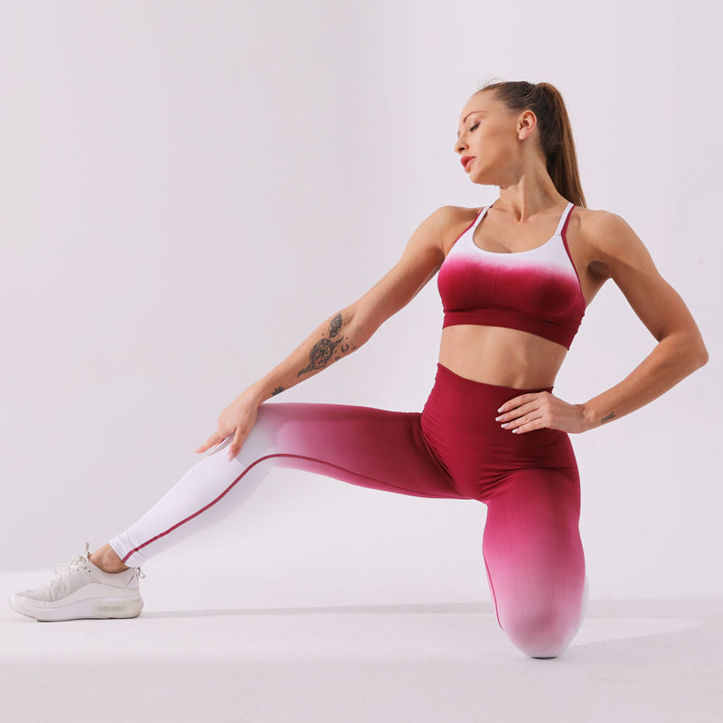 Padded Push-Up Seamless Yoga Set - Yoga Blush