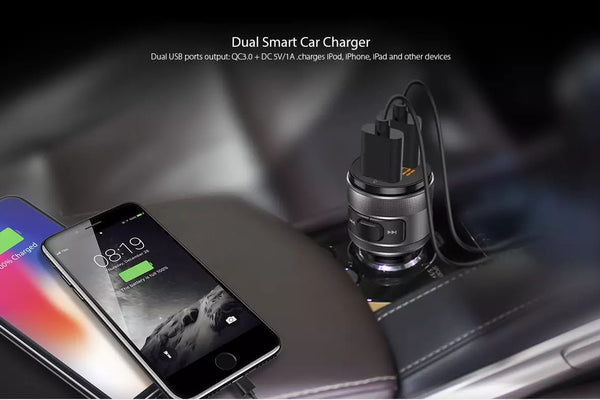 VeeDee ProMic Bluetooth Handsfree Kit with FM Receiver, Car Charger, USB and Micro SD Card Player