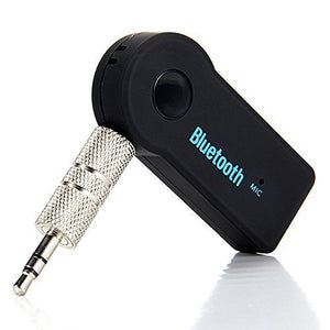 VeeDee Bluetooth Hands-free Car Kit Bluetooth Music Receiver Adapter with Built-in Mic