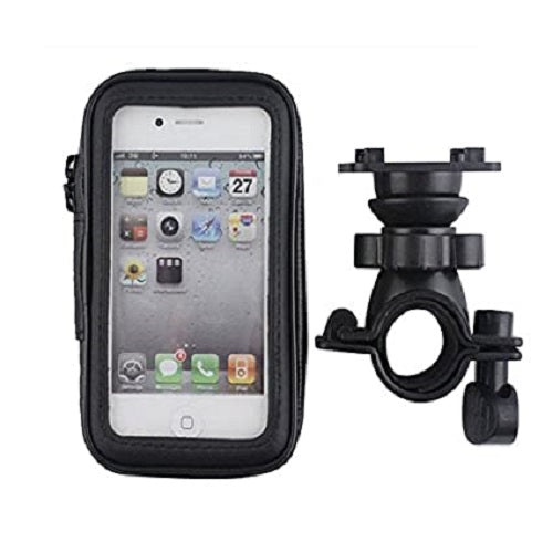 VeeDee Waterproof Bike Bicycle Phone Mount Holder with Transparent Touchable Pouch Case 360 Degrees Rotatable for Smartphones GPS and Many Devices