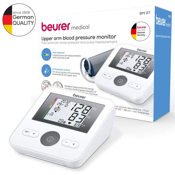 Beurer 658.18 BM 27, Universal Sleeve Seal for Large arms Upper Arm Blood Pressure Monitor (White)