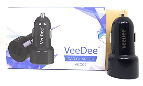 VeeDee VCC02 Dual Port 4.8A Output Car Charger - Black