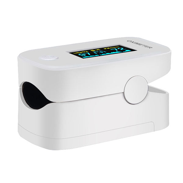 YIMI LIFE YM201 (IMP & MKD BY VeeDee) Pulse oximeter fingertip with Plethysmograph and Perfusion Index, Portable Blood Oxygen Saturation Monitor for Heart Rate and SpO2 Level, O2 Monitor Finger (White)
