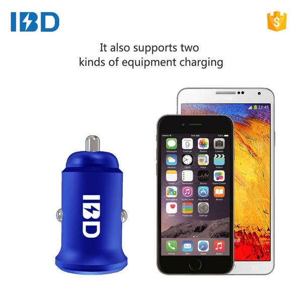 VeeDee 4.8 A Metal Dual Car Charger Blue 24W