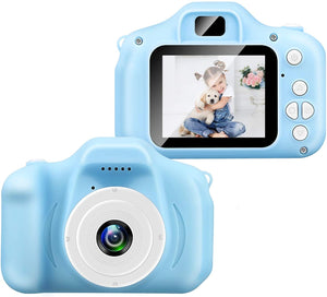 "VeeDee Kids Camera Children Digital Cameras Toys 1080P 2.0"" IPS Screen FHD Toddler Video Recorder Great Birthday Gifts for Kids (Blue)"
