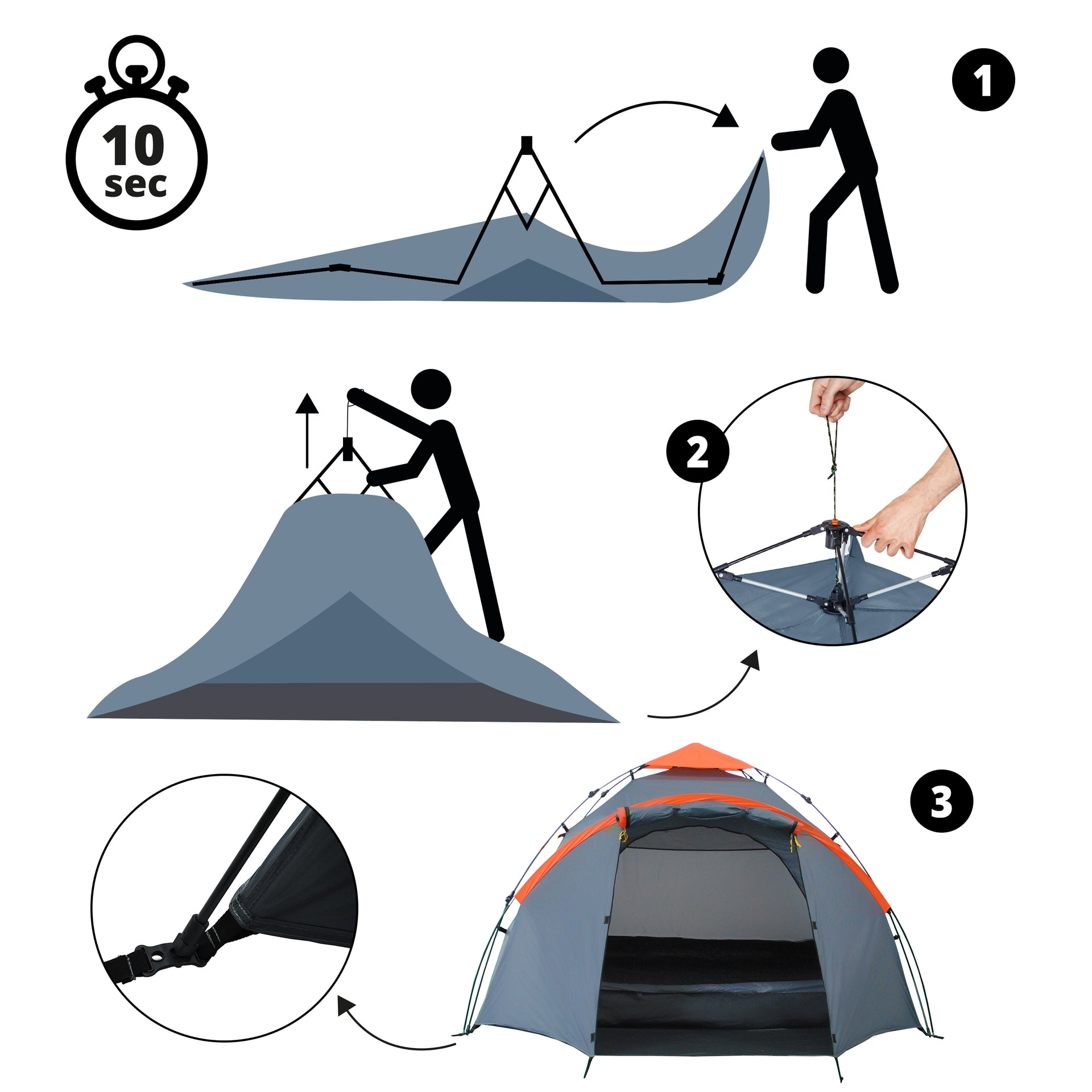The Easy Pop Up Tent Family