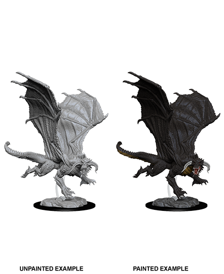 D&D Nolzur's Marvelous Miniatures: Young Black Dragon - Duel Kingdom