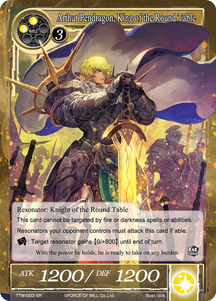 Arthur Pendragon, King of the Round Table (Foil) - Duel Kingdom