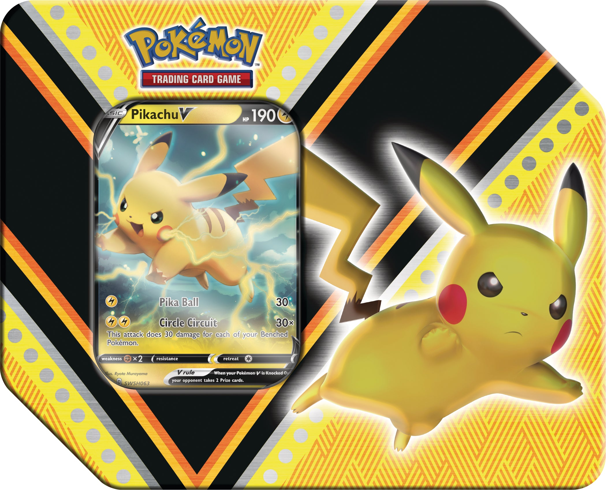 Pokémon TCG: V Powers Tin - Pikachu | Duel Kingdom