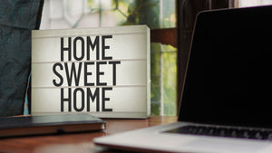 "Lightbox ""Home sweet home"""
