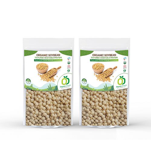 Organic Delight White Soya Bean (Whole)  2 kg - Gourmetdelight