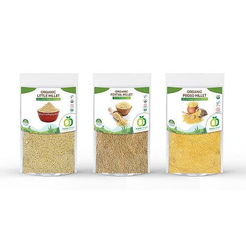 Organic Delight Proso Millet Little Millet Foxtail Millet Pack of 3 - Gourmetdelight