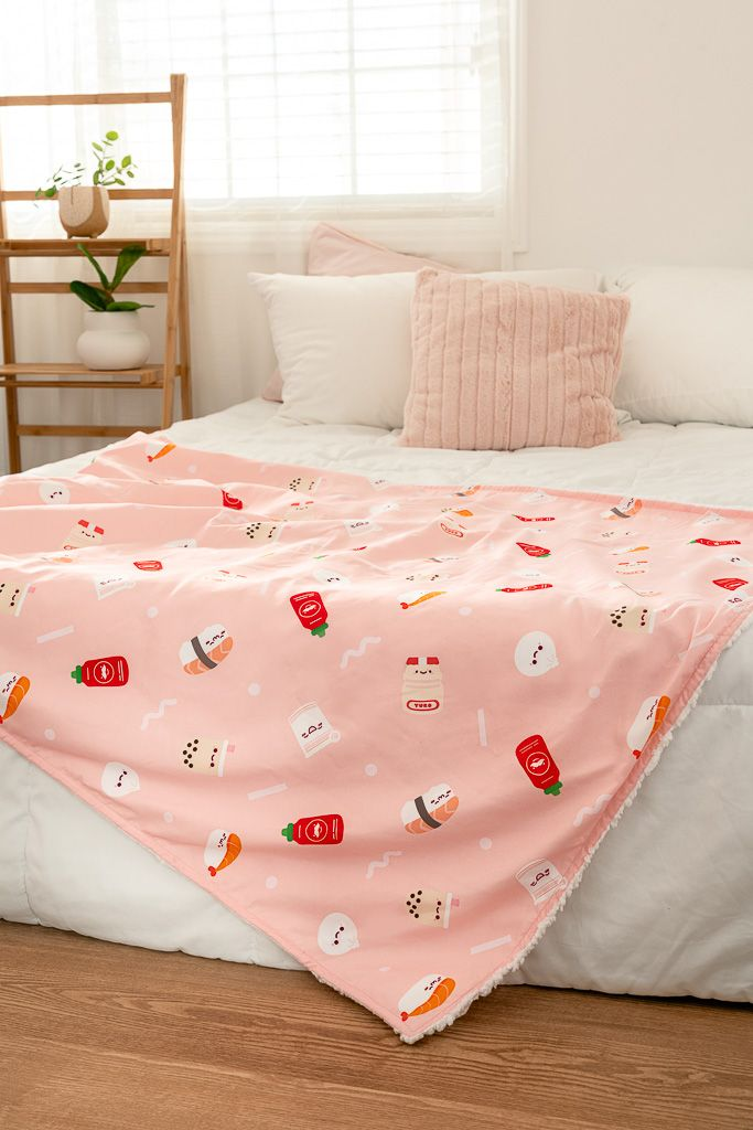 Kawaii Foodie Blanket