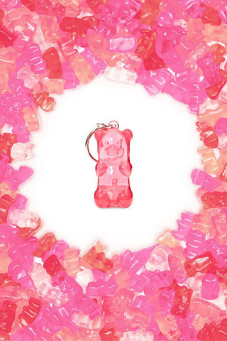 Gummy Bear Light-Up Keychain - Pink