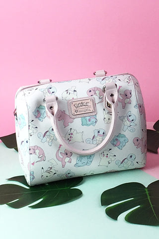 Loungefly x Pokemon Starters Pastel Duffle Bag