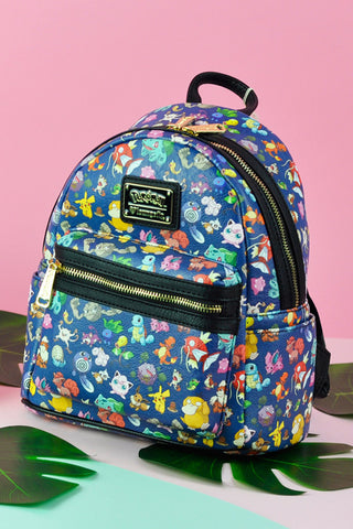 Loungefly x Pokemon First Generation Print Faux Leather Mini Backpack