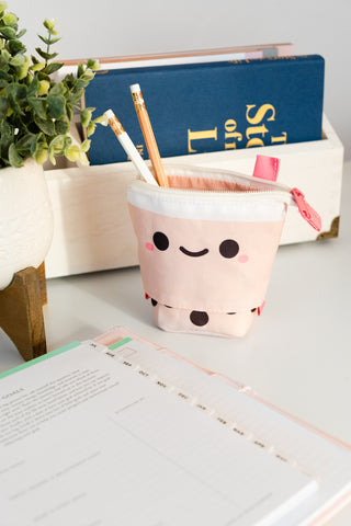 Pearl Boba Tea Retractable Pencil Case 🥤