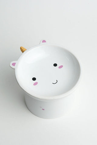 Elodie Unicorn Raised Cat Bowl