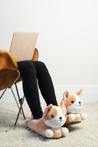 Milo Corgi USB Heated Slippers
