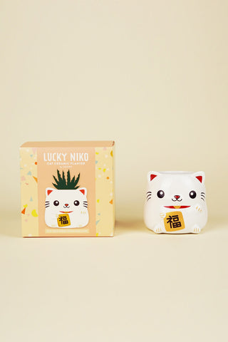 Lucky Niko Cat Planter