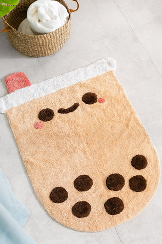 Pearl Boba Milk Tea Bath Mat 🥤