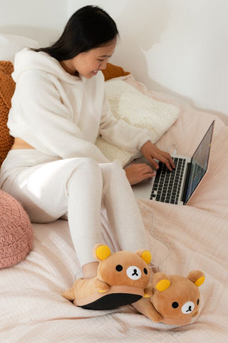 Rilakkuma USB Heated Slippers Pre-Order
