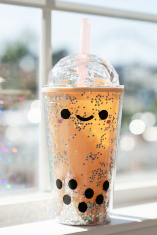 Pearl Boba Tea Reusable Tumbler