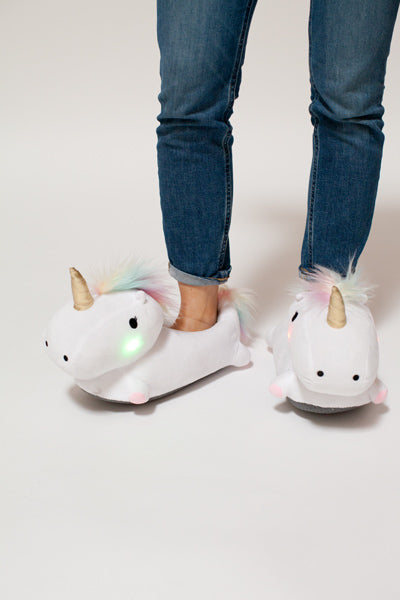 2e8e9b9c05b Smoko Kawaii Plush Unicorn Light Up Slippers