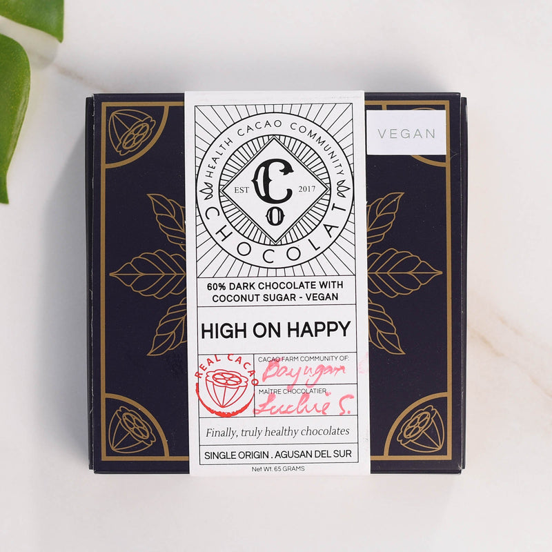 High on Happy - Dark Chocolate with Coconut Sugar (Vegan)