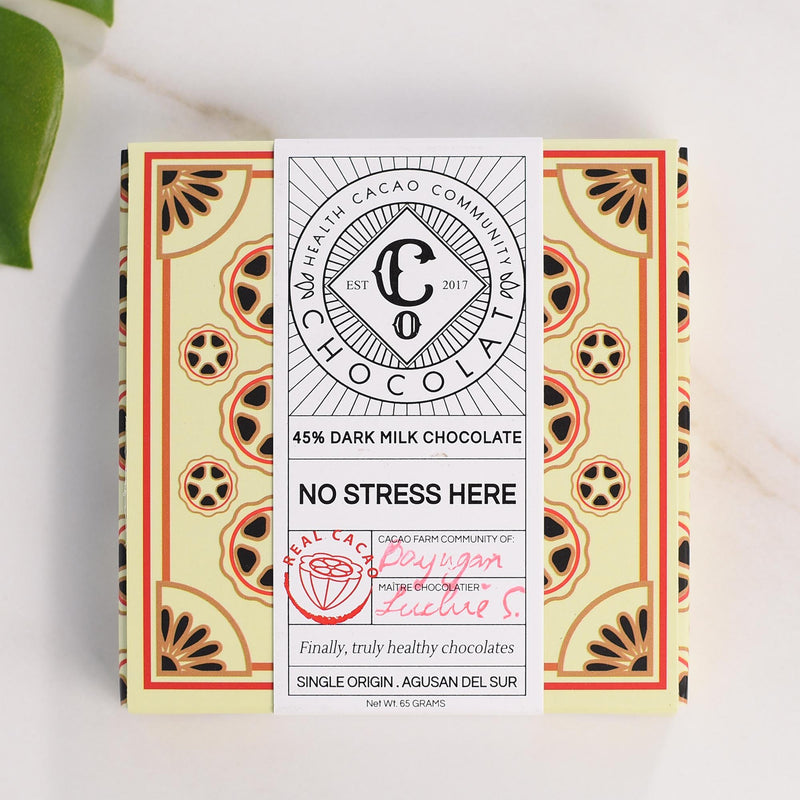 No Stress Here - 45% Dark Milk Chocolate