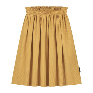 daily brat nova plisse skirt misty yellow