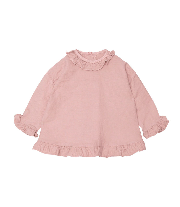Yellowpelota blouse ruffle pink