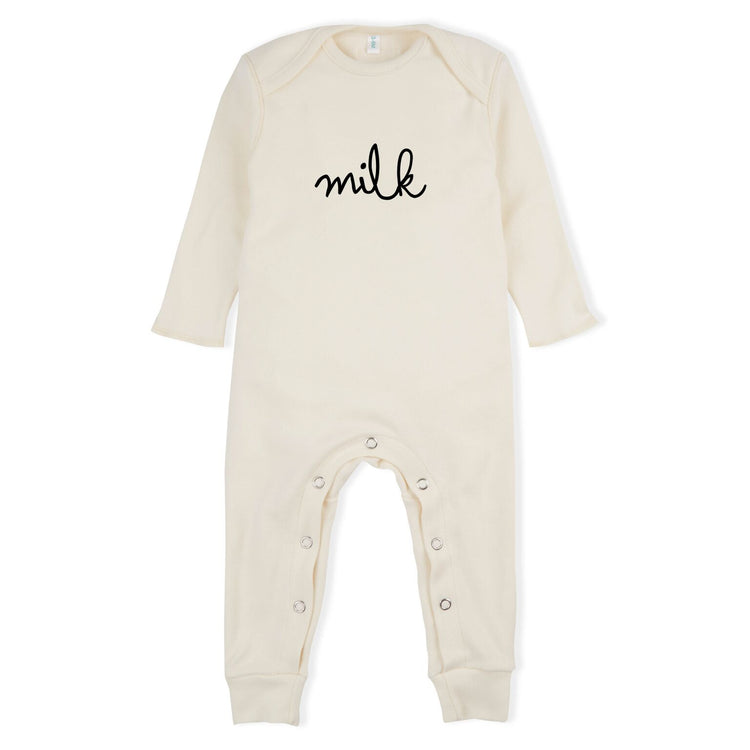 organic zoo playsuit milk