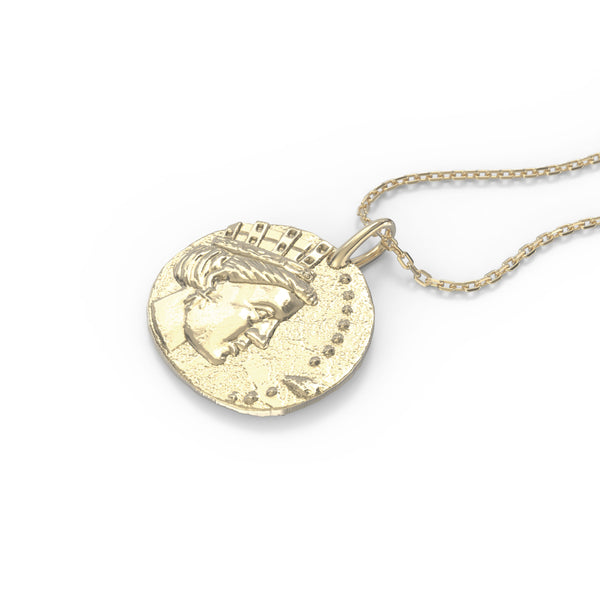 Tyche pendent Silver gold plated