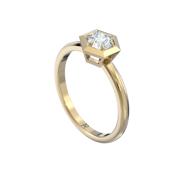 Six Sides / rounded band / 0.35ct