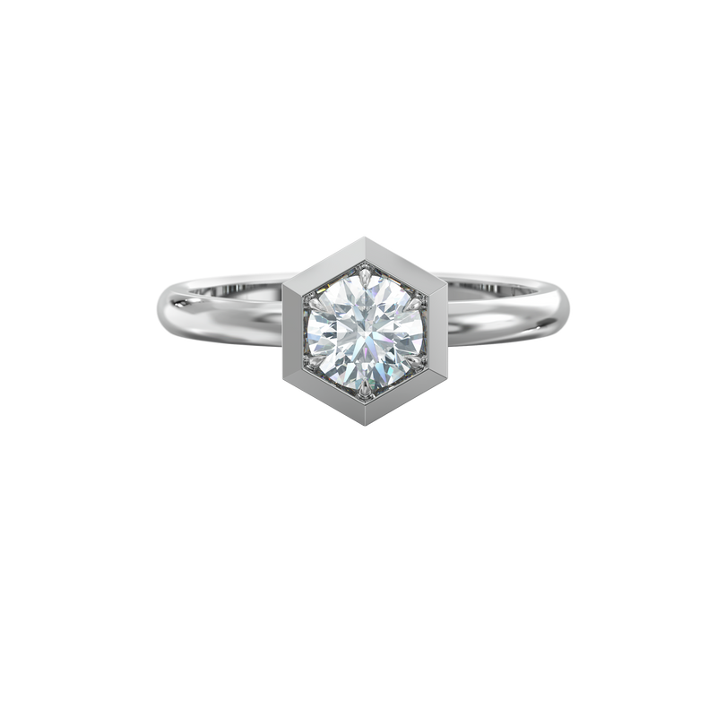Six Sides / rounded band / 0.50ct