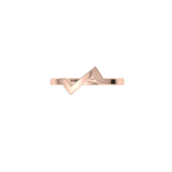 Sound wave 9kt rose gold ring