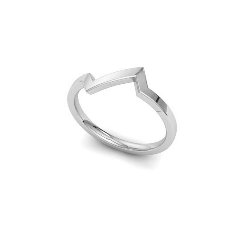 Sound wave silver ring