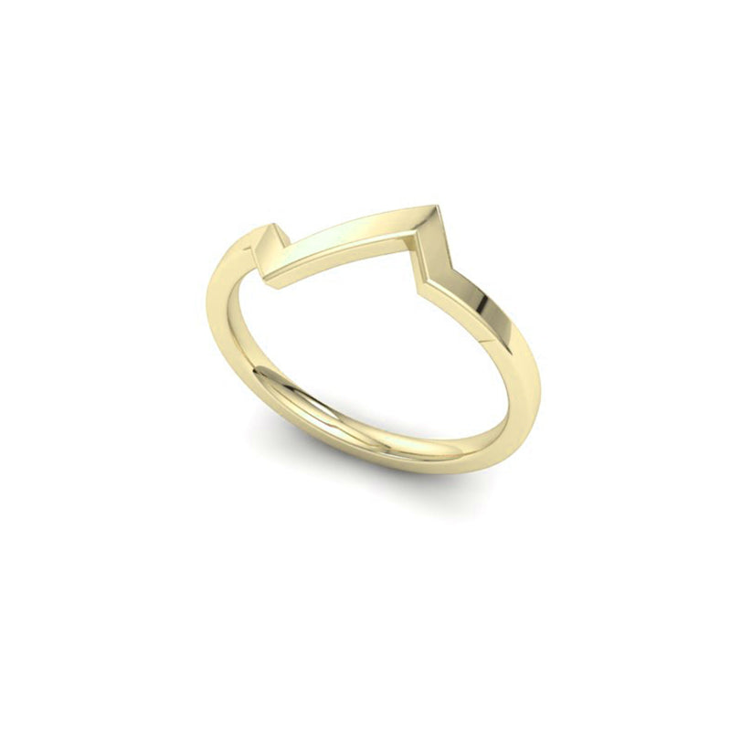 Sound wave 9kt yellow gold ring
