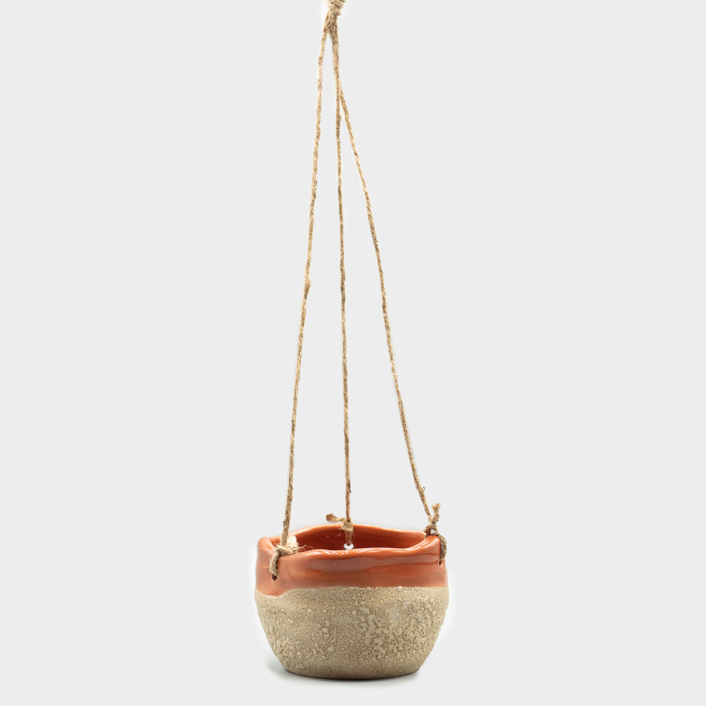 "4"" Floret Hanging Planter Red Edge"