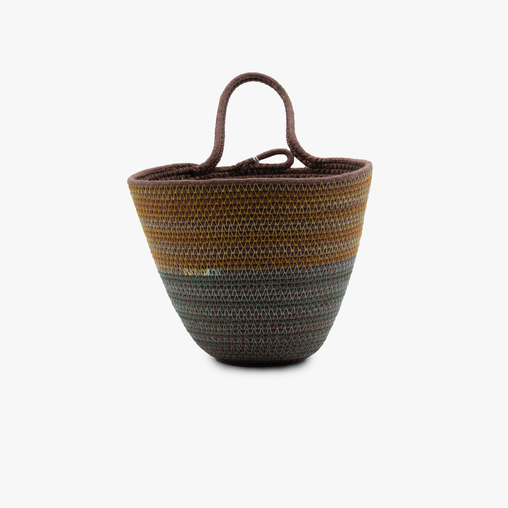 MOkun Teal & Marigold Medium Planter