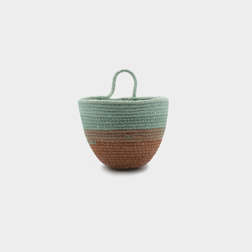 MOkun Terracotta & Seafoam Mini Planter