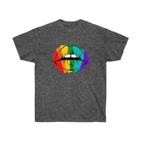 Rainbow Lips Lesbian Gay LGBT Queer Equality Tee