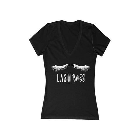 Lash Boss Printed V-Neck Shirt