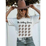 THE ROLLING STONES LEOPARD TONGUE TEE